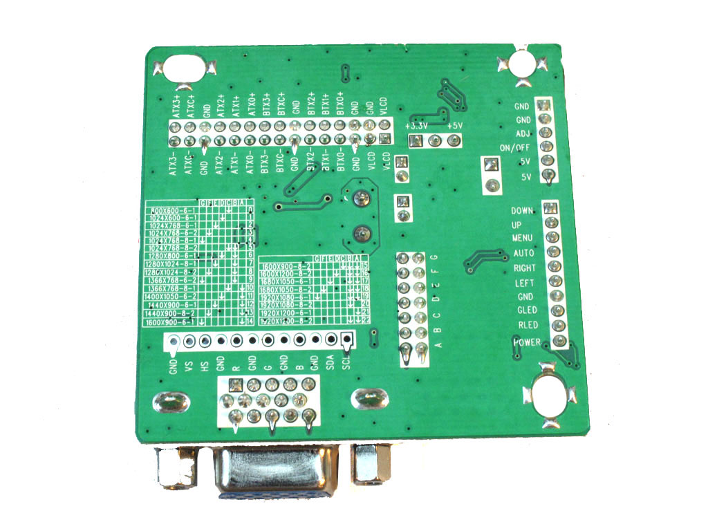 Board tin hieu LCD a7